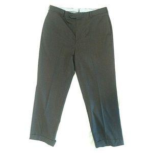 Brooks Brothers Men Wool Front Flat Dress Pants 38
